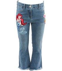 jeans frange ricamati