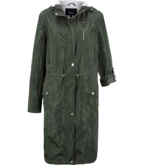parka da mezza stagione con fodera di jersey (verde) - bpc bonprix collection