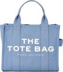 marc jacobs fabric mini tote traveler handbag with logo