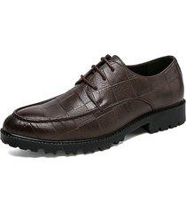 scarpe casual antiscivolo in pelle di grandi dimensioni per uomo