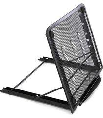 suporte para notebook le retrátil 6 níveis aramado preto 24x20cm