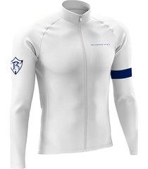 jersey largo invierno performance blanco azul
