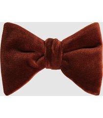 reiss hike - velvet bow tie in rust, mens