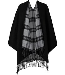 poncho double face (nero) - bpc bonprix collection