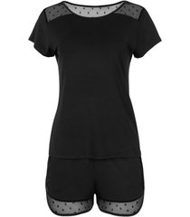 pyjama's / nachthemden lisca romance cheek t-shirt en shorts