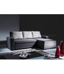 sofá cama com chaise vizzi