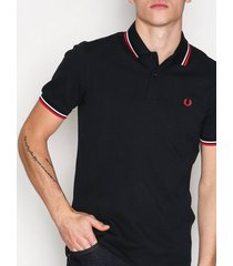 fred perry twin tipped polo shirt piké navy/vit