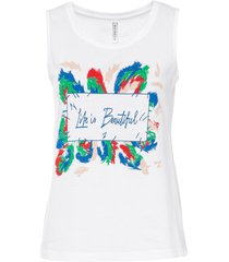 top in jersey con stampa (bianco) - rainbow