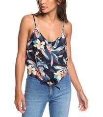 roxy juniors' become the one floral-print tank top