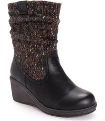 women's palmer sweater knit wedge boots women's shoes
