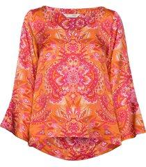 head turner blouse blus långärmad orange odd molly