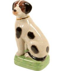 escultura decorativa de porcelana cachorro cucciolo