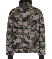 canada goose forester camouflage-print padded jacket - grey
