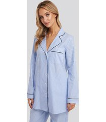 na-kd lingerie dobby cotton night shirt - multicolor