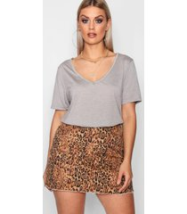 plus supersoft v neck t-shirt, grey