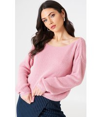 josefin ekström for na-kd cropped knitted sweater - pink