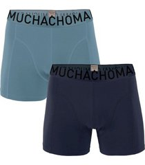 muchachomalo 2 stuks cotton stretch solid boxer
