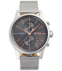 men's boss jet chronograph mesh strap watch, 41mm