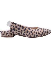 baleta punta kimmie mercedes campuzano de mujer-estampado leopardo