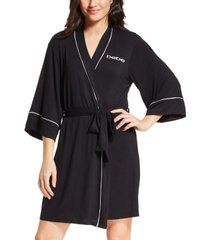 bebe short wrap logo robe