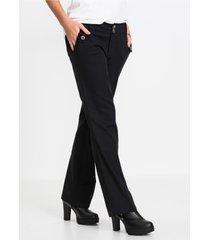 pantalon met krijtstrepen, bootcut