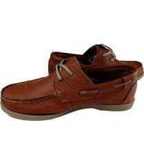 apaches zapatos calzado mocasín en cuero hombre café