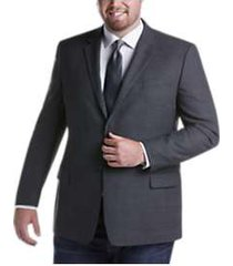 pronto uomo platinum executive fit sport coat gray plaid