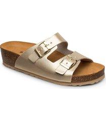 biabetty wedge buckle sandal shoes summer shoes flat sandals guld bianco