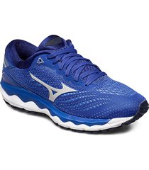 wave sky 3 w shoes sport shoes running shoes blå mizuno