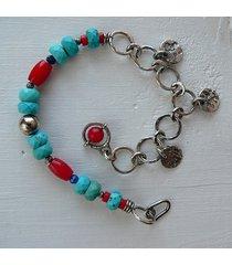 -turkus-koral-lapis lazuli- bransoletka-