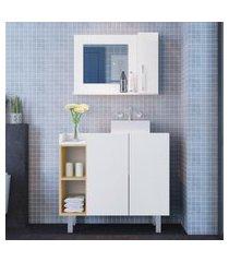 conjunto para banheiro balcão + espelheira criando mobilia 3 portas