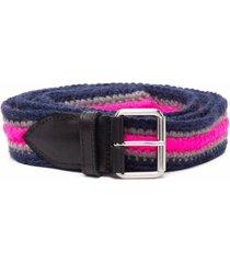 philosophy di lorenzo serafini multicolor striped wool belt