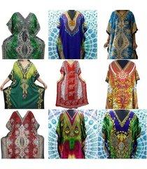 women kimono long kaftan dress boho hippy maxi plus size caftan dress night gown