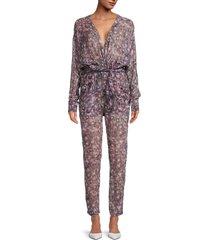 iro women's poincia paisley-print jumpsuit - pink multicolor - size 34 (2)