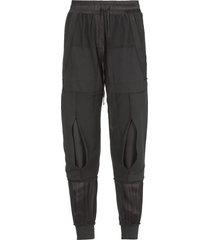 andrea yaaqov patchwork cotton pants