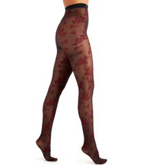 inc flocked floral tights, created for macy's