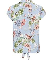 gedessineerde blouse met knoopdetail