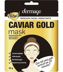 máscara facial hidratante dermage caviar gold mask 10g