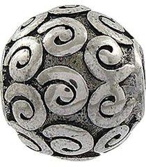 berloque narcizza semijoias com detalhes em arabescos aço - tricae
