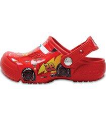 sandália crocs funlab cars clog vermelho