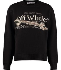 off-white embroidered crew-neck sweater