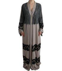 floral applique lace kaftan jurk