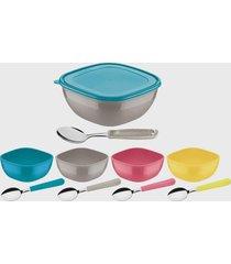 kit sobremesa tramontina 10 peças mix color multicolorido