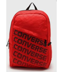 mochila roja converse speed bag