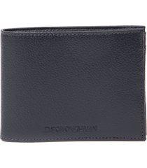 emporio armani blue pvc logo wallet