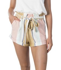 women's rip curl sunsetters stripe paperbag shorts