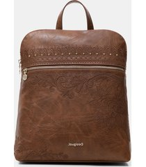 exotic embroideries backpack - brown - u