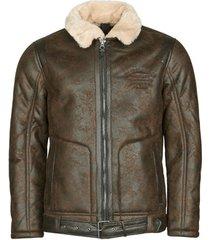 leren jas petrol industries jacket imitation shearling