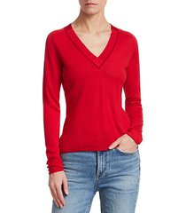 pamela merino wool knit v-neck sweater