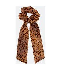 scrunchie alongado animal print | accessories | marrom | u